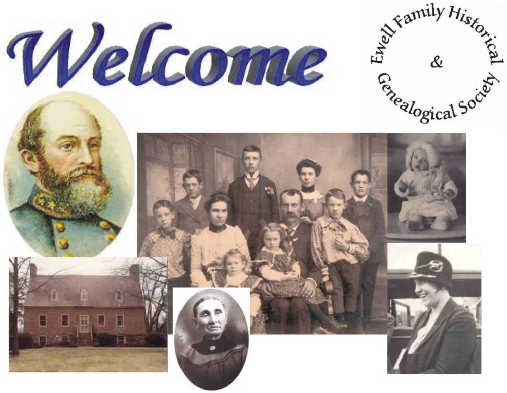 Collage of pictures of various Ewell Ancestors
